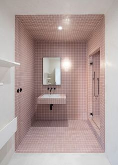 Find out: 15 attracting pastel bathroom interior design ideas Minimalist Bathroom, Modern Bathroom, Small Bathroom, Bathroom Ideas, Mosaic Bathroom, Bathroom Designs, Lowes Bathroom, Bathroom Marble, Silver Bathroom