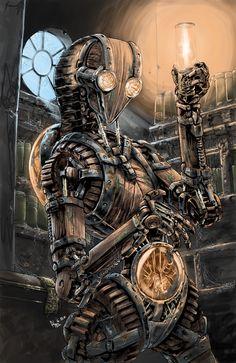 Steam On ❀Steampunk — steam-on-steampunk:   Wood robot 10 Kby...