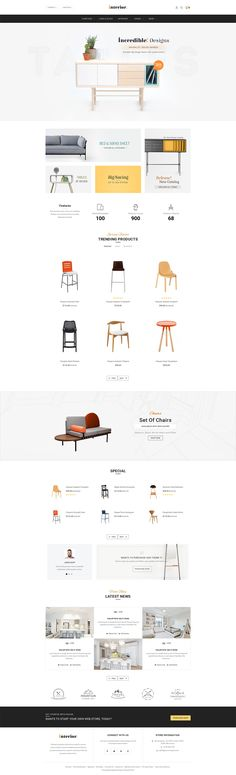 Modern Interior #Opencart #Responsive #Furniture #Chairs #Tables Web Design