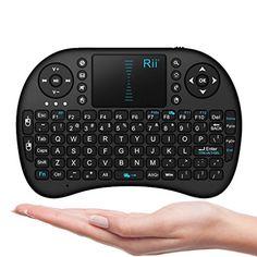 Rii i8 10038AM Mini 24GHz Wireless Touchpad Keyboard with Mouse Black ** Check out the image by visiting the link.