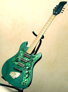 Rare vintage Soviet electric guitar AELITA 2 (Rostov) Military Green USSR