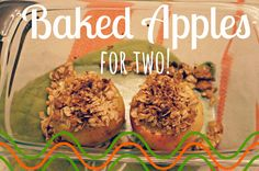 Baked Apples for Two Spoons of Grace