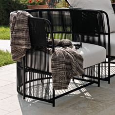 Varaschin Tibidabo Low Back Armchair with Cushion by Calvi and Brambilla | Wayfair UK