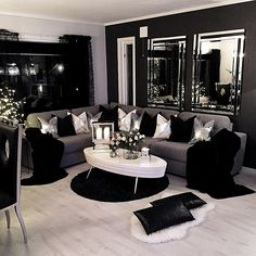 Home Decoration - 80 Stunning Small Living Room Decor Ideas For Your Apartment 06 – DECOOR - Wallpaper Pinme White Living Room, House Rooms, Small Living Room Decor, Home And Living, Black Living Room, Living Room Designs, Living Decor, House Interior, Apartment Decor