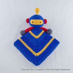 Sweet Robot Lovey...he could be for a boy or a girl! Color choices make all the difference :)
