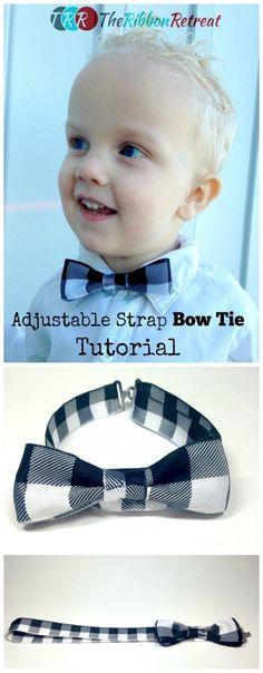 Adjustable Strap Bow Tie Tutorial - The Ribbon Retreat Blog