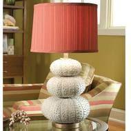 White Stacked Sea Urchin Lamp
