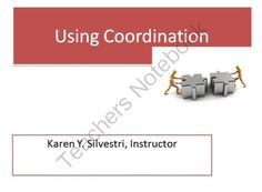 Using Coordination to Join Sentences from Karenzo Media on TeachersNotebook.com -  (12 pages)  - This presentation teaches how to properly use coordination to combine sentences. New writers frequently write in short, choppy sentences because they are afraid of improperly using commas and semi colons. Using coordination is important in writing to prov