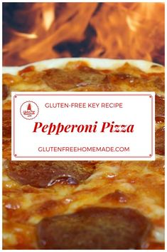 Pizza lovers agree!  Pepperoni and cheese are the perfect pairing for an irresistibly delicious pizza! | Gluten Free Pizza Crust Recipe--Key to Quick and Easy Pizza Creations! | GlutenFreeHomemade.com  #glutenfreehomemade #glutenfree #pepperoni #pizza #recipe #cheese #quickandeasyfood #easyrecipe #gameday #party #food #lunch #dinner #Italian #comfortfood