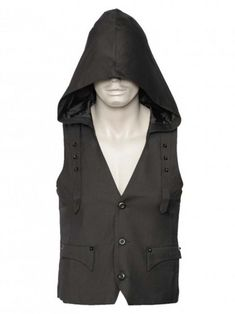 Gothic shop: Hooded Men's Vest