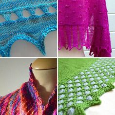 #myfiberstory In my designs I really love to experiment with (new for me) textures and stitch patterns. Here a few examples starting upper left and going clockwise: knitted broomstick lace in Zomer Zilt bobbles and drop stitch lace in Moerbei Latvian twist edging and slip stitch patterning in my Ayamaru Cowl and last but not least the lovely aster stitch pattern in the border of my Bloemen in het Gras Shawl.  #fiberboss #lavischdesigns #knittingdesigner #crochetdesigner #knitting #crochet…