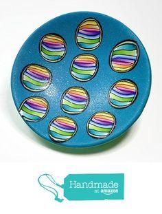 Rainbow Teal Ring Dish Handmade Jewelry Holder-Wedding Gift- Polymer Clay Dish- Home Decor- Gifts for Her from SK  Artisan Jewelry & Gifts https://www.amazon.com/dp/B01NANDRN7/ref=hnd_sw_r_pi_dp_N8RIybDZMNT1G #handmadeatamazon