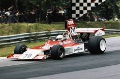 Arturo Merzario drives the Frank Williams Racing Cars Marlboro Iso Ford FW during the British Grand Prix on 20 July 1974 at the Brands Hatch circuit...