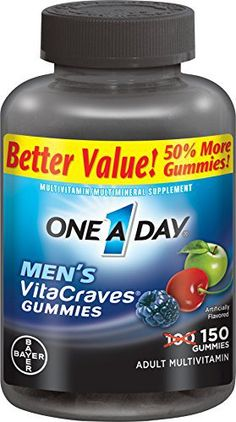 One A Day Men's Vitacraves, 150 Count - http://yourpego.com/one-a-day-mens-vitacraves-150-count/?utm_source=PN&utm_medium=http%3A%2F%2Fwww.pinterest.com%2Fpin%2F368450813235896433&utm_campaign=SNAP%2Bfrom%2BHealth+Guide