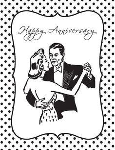 Happy Anniversary - Vintage Couple