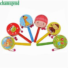 Wooden Rattle Pellet Drum Cartoon Musical Instrument Toy for Child Kids Gift Rattle-Drums Months baby toys 221 - Kid Shop Global - Kids & Baby Shop Online - baby & kids clothing, toys for baby & kid Toy Musical Instruments, Musical Toys, Toddler Toys, Baby Toys, Kids Toys, Drums Cartoon, Drums For Kids, Baby Shop Online, Baby Music