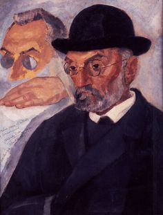 Vazquez Dias, Daniel (1882-1969) - Portrait of the Writer Miguel de Unamuno | Daniel Vázquez Díaz was a Spanish painter.  Born in Nerva, Spain, Vázquez Díaz settled in Paris in 1918, where he found cubism to be the ideal form of expression. Unlike other artists such as Juan Gris, he was not an intellectual cubist; he used external forms and the morphology of cubism to redo his language, characterized by the use of sober and gray colors, and by the vigor of his planes.  These characteristics…