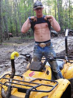 The first thing I noticed was the snorkel kit on the four wheeler!!!!:)