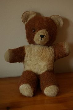 Aww the memories, I had a stuffed bear...naturally I named him Teddy....cuddly times!