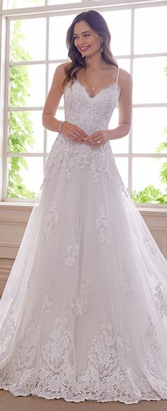 72232345b46 Elegant Romantic Lace   Tulle A-Line Wedding Gown - Y21832 Amethyst
