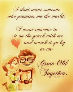 Discover and share Carl And Ellie Pixar Up Quotes. Explore our collection of motivational and famous quotes by authors you know and love. Pixar Up Quotes, Up Quotes Disney, Up Movie Quotes, Cute Quotes, Best Quotes, Deco Disney, Disney Up, Disney Ideas, Growing Old Together