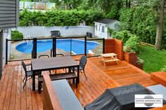 Patio Design - Construction & Design of Patios for a pool Decks Around Pools, Patio Design, House Design, Yard Care, Construction Design, Outdoor Furniture Sets, Outdoor Decor, Yard Landscaping, Landscaping Ideas