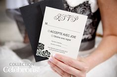 Mariage, collection Célébrons.  RSVP - Chics floralies collection Wedding Stationary, 2013, Rsvp, Magazine, Collection, Weddings, Wedding Stationery, Warehouse, Magazines