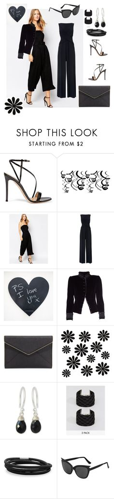 """""""Black Dress"""" by amiraahmetovic ❤ liked on Polyvore featuring Gianvito Rossi, Warehouse, Phase Eight, Marc Jacobs, Rebecca Minkoff, WALL, NOVICA, ASOS, BillyTheTree and Topshop"""