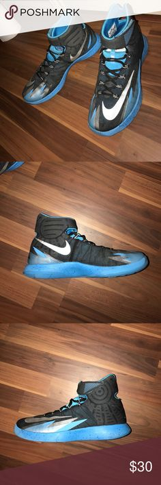 2013 Nike Hyperrev High-top basketball shoes with strap. Used Nike Shoes Athletic Shoes