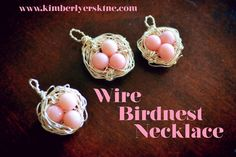 I absolutely love these necklaces and they're not just inexpensive to make but easy as well!  Check out the Wire Bird Nest Necklace Tutorial www.kimberlyersk1ne.com