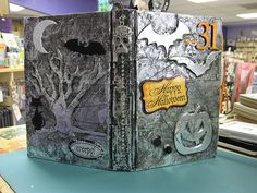 my cover of halloween altered book