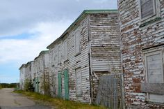Row of Old Buildings in Port Union