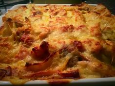 Mushroom Pasta Bake, Lasagna, Food To Make, Stuffed Mushrooms, Homemade, Baking, Ethnic Recipes, Blog, Stuff Mushrooms