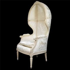 Vtg French Louis XVI Style White Painted Carved Canopy Hood Versaille Arm Chair | eBay