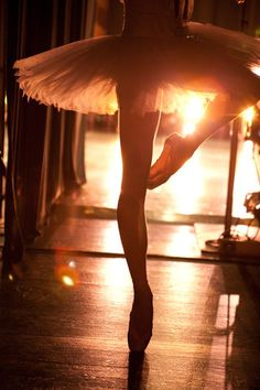 Ballerina passé backstage. Perfect tutu.