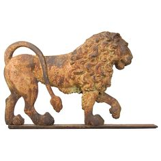 Lion Garden Figure  England  First quarter 19th century  Probably English. Lion figures were used as guardians of estates and often come in pairs. This early example has great form and sculptural appeal.  Price