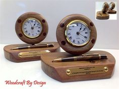 Irish hand made wooden clocks with quartz clock insert, perfect for retirement or fathers day gift.