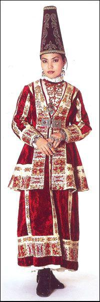 A modern fashioned bridal attire