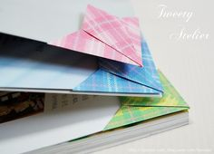TWEETY ATELIER   Origami corner bookmarks   Instructions: http://blog.naver.com/PostThumbnailView.nhn?blogId=sjrenoir=50092677646=37=#