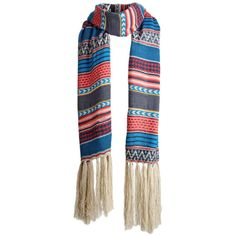 Blue Long Womens Fashion Tassels Cute Classic Striped Scarf ($9.99) ❤ liked on Polyvore featuring accessories, scarves, blue, blue scarves, oblong scarves, striped scarves, tassel scarves and long shawl
