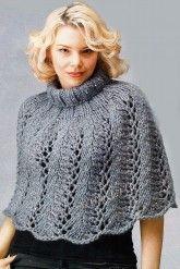 Ажурное пончо спицами Openwork knit poncho