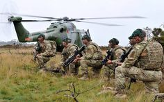 Infiltration by helicopter for Royal Marine Commandos