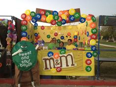 M & M's for our school carnival booth. Had a blast and we placed 2nd!!
