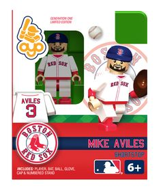 Mike Aviles - Boston Red Sox, Minifigure