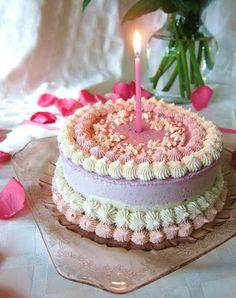 Raw Pretty in Pink Birthday Cheesecake @FragrantVanillaCake