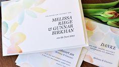 Hochzeitskarten Set Watercolour Bloom U2013 Leicht Und Beschwingt, Frisch Und  Elegant. Einladungskarten Von Honeybird · LetterpressWatercolour