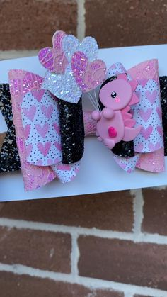 Homemade Hair Bows, Kids Hair Bows, Baby Flower Headbands, Dinosaur Crafts, Boutique Hair Bows, Diy Bow, Diy Hair Accessories, Hairbows, Valentines Diy