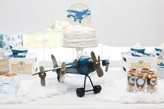 Vintage cloud Plane Birthday Party Theme 3 of 13