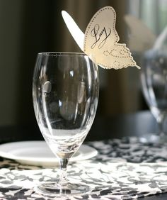 Butterfly placecards.