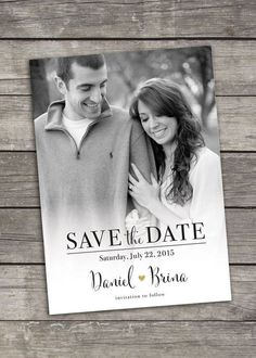Save The Date - Photo Announcement - Custom Printable - Digital Photo Wedding Invitations, Save The Date Invitations, Wedding Invitation Design, Save The Date Cards, Wedding Stationery, Invites, Save Date, Wedding Invitations With Pictures, Save The Date Magnets